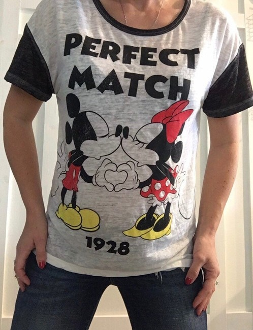Disney T Shirt white black red and yellow Image 1