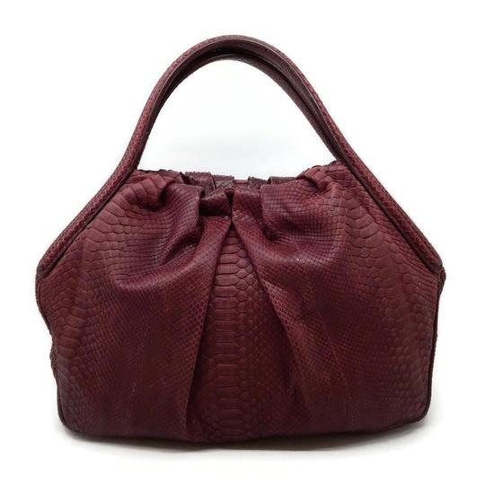 Preload https://img-static.tradesy.com/item/25833647/giorgio-armani-cinch-top-wine-snakeskin-leather-hobo-bag-0-1-540-540.jpg