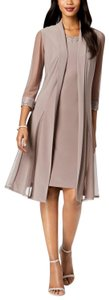 R & M Richards short dress Taupe on Tradesy