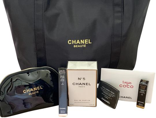 Preload https://img-static.tradesy.com/item/25833672/chanel-beaute-multi-products-totechanel-no-5-full-size-bottle-and-other-cosmetic-bag-0-3-540-540.jpg