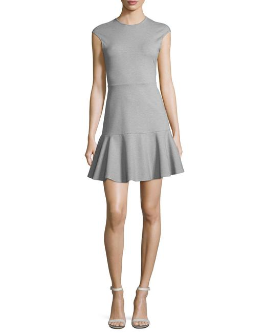 Preload https://img-static.tradesy.com/item/25833680/theory-light-grey-essential-flare-cap-sleeve-ponte-mini-short-formal-dress-size-2-xs-0-0-650-650.jpg