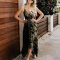 Green/Black Maxi Dress by Unbranded Image 0