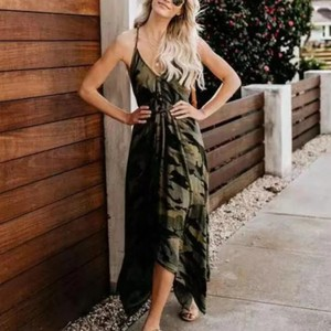 Green/Black Maxi Dress by Unbranded