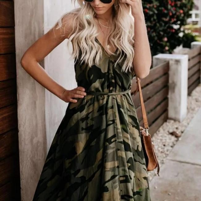 Green/Black Maxi Dress by Unbranded Image 1