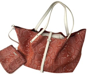 Tiffany & Co. Tote in RUSTY RED & WHITE