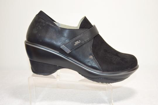 Jambu Jbu By All Terra Traction Made For Walking Sedona Wedge Micro Suede/ Black Mules Image 1