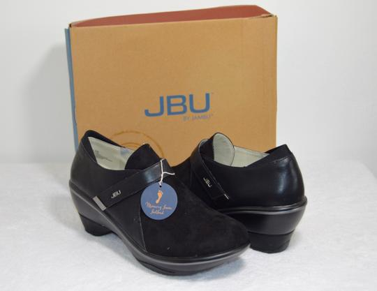 Jambu Jbu By All Terra Traction Made For Walking Sedona Wedge Micro Suede/ Black Mules Image 3