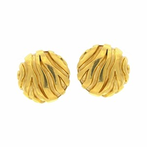 Judith Leiber Judith Leiber Omega Back Earrings 18k Yellow Gold
