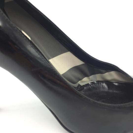Burberry Pointed Heel Silver Black Pumps Image 3