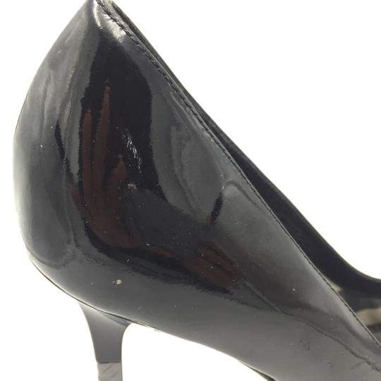 Burberry Pointed Heel Silver Black Pumps Image 5