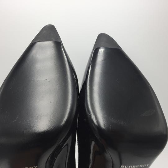 Burberry Pointed Heel Silver Black Pumps Image 7