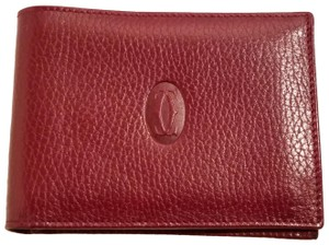 Cartier Cartier Paris Burgundy Leather Wallet Holder