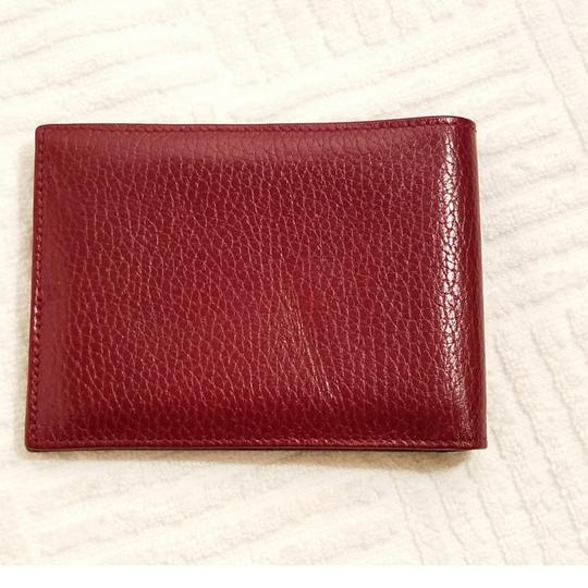 Cartier Cartier Paris Burgundy Leather Wallet Holder Image 1