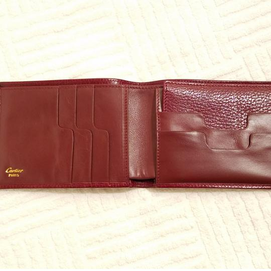 Cartier Cartier Paris Burgundy Leather Wallet Holder Image 2