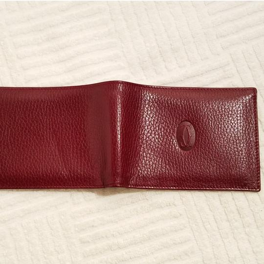Cartier Cartier Paris Burgundy Leather Wallet Holder Image 3