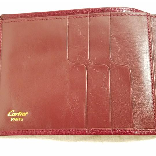 Cartier Cartier Paris Burgundy Leather Wallet Holder Image 4