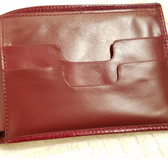 Cartier Cartier Paris Burgundy Leather Wallet Holder Image 6