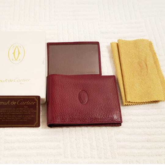 Cartier Cartier Paris Burgundy Leather Wallet Holder Image 7