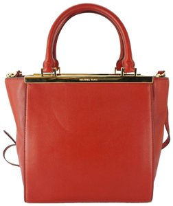 Michael Kors Logo Plaque Small Tote in Red
