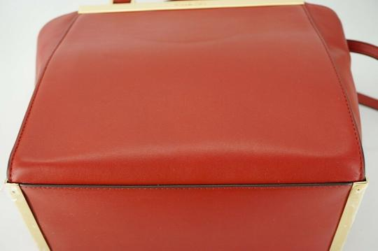 Michael Kors Logo Plaque Small Tote in Red Image 1