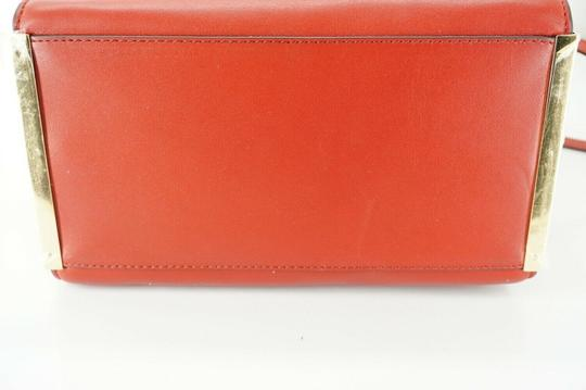 Michael Kors Logo Plaque Small Tote in Red Image 6