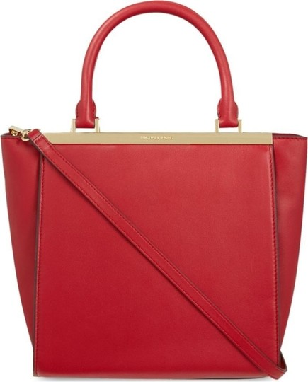 Michael Kors Logo Plaque Small Tote in Red Image 9