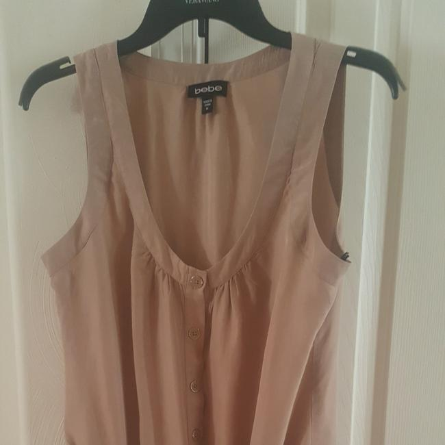 bebe Tan Beige Sheer with Tie Tunic Size 8 (M) bebe Tan Beige Sheer with Tie Tunic Size 8 (M) Image 1