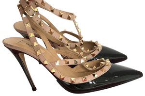 Valentino black and Tan Pumps