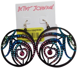 Betsey Johnson Betsey Johnson Heart/Hoop Earrings