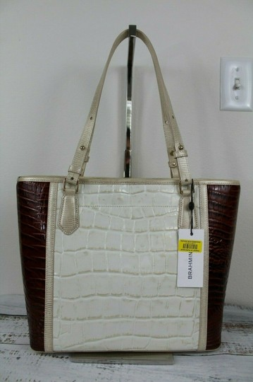 Brahmin Tote in Light Gold Image 6