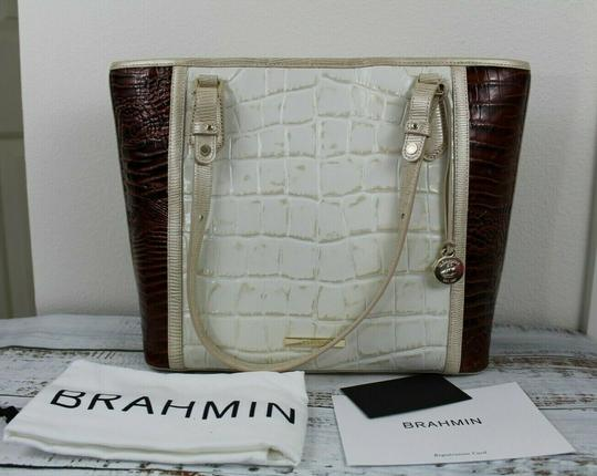 Brahmin Tote in Light Gold Image 8