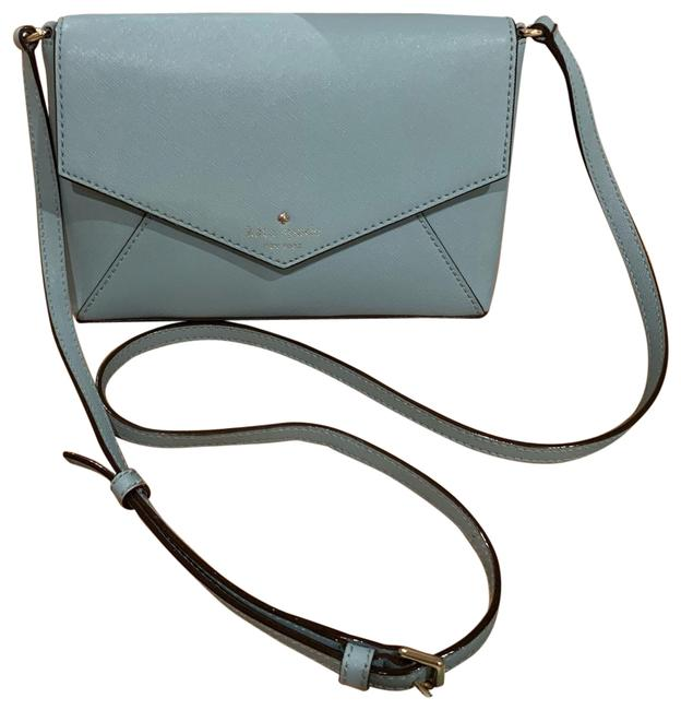 Kate Spade Envelope Blue Leather Cross Body Bag Kate Spade Envelope Blue Leather Cross Body Bag Image 1