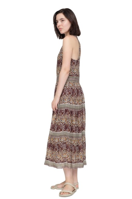 Sea Brown/Multi Tiered Tank Casual Maxi Dress Size 6 (S) Sea Brown/Multi Tiered Tank Casual Maxi Dress Size 6 (S) Image 1
