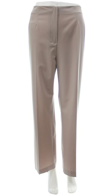 Item - Tan Mid Rise Wool Blend Pants Size 14 (L, 34)
