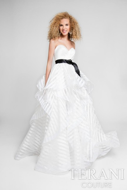Terani Couture Wedding Gown Prom Ball Gown Strapless Wedding Dress Image 2