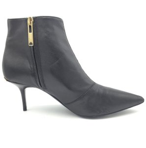 Burberry Ankle Leather Black & Gold Boots
