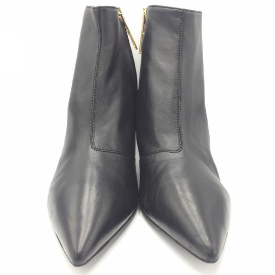 Burberry Ankle Leather Black & Gold Boots Image 1