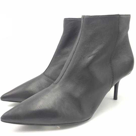 Burberry Ankle Leather Black & Gold Boots Image 3