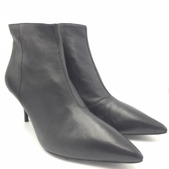 Burberry Ankle Leather Black & Gold Boots Image 5