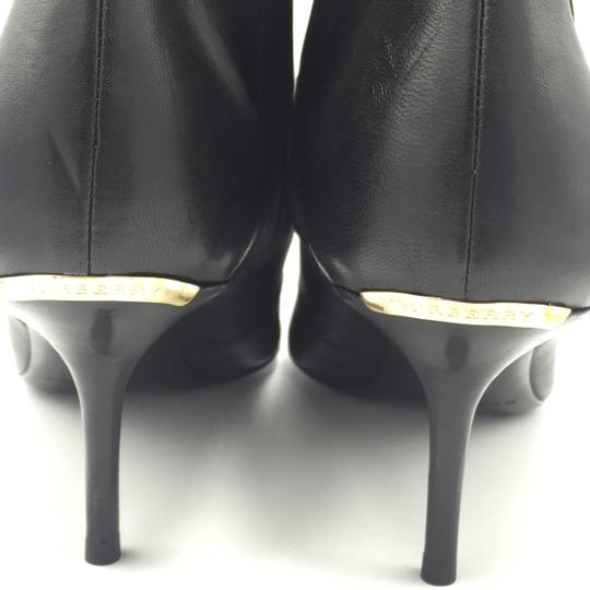 Burberry Ankle Leather Black & Gold Boots Image 6