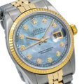 Rolex Blue Datejust 36mm Diamond Dial with Two Tone Bracelet Watch Rolex Blue Datejust 36mm Diamond Dial with Two Tone Bracelet Watch Image 3