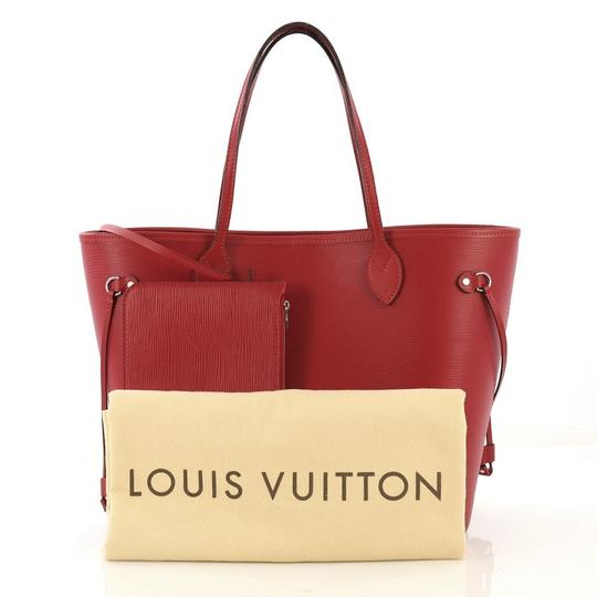 Louis Vuitton Leather Tote in red Image 1