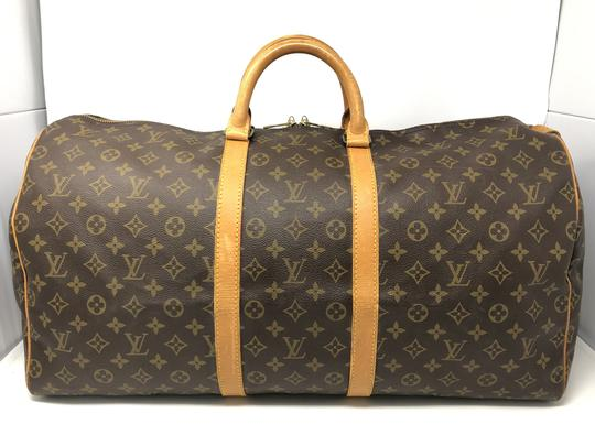 Louis Vuitton Keepall Keepall 55 Duffle Monogram canvas Travel Bag Image 1
