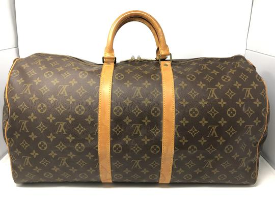 Louis Vuitton Keepall Keepall 55 Duffle Monogram canvas Travel Bag Image 2