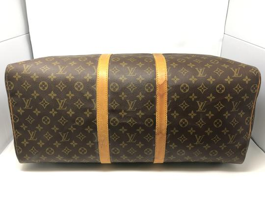 Louis Vuitton Keepall Keepall 55 Duffle Monogram canvas Travel Bag Image 8