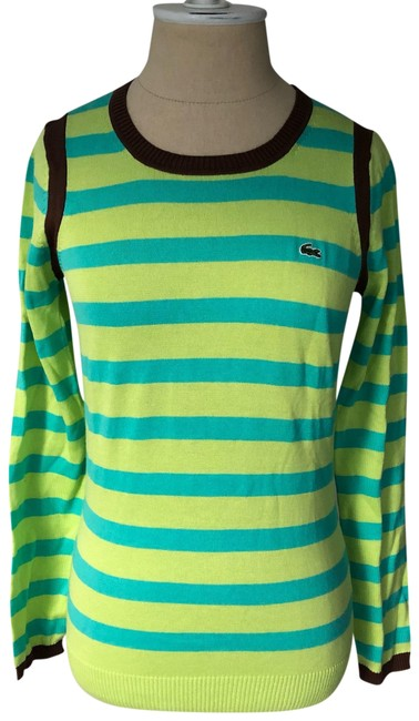 Preload https://img-static.tradesy.com/item/25834274/lacoste-green-and-blue-striped-supima-cotton-long-sleeve-tee-shirt-size-4-s-0-1-650-650.jpg