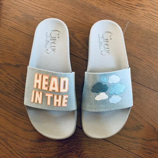 Circus by Sam Edelman Pool Slide Light Blue Sandals Image 1