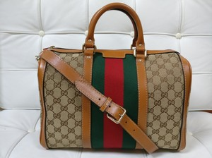 Gucci Gg Supreme Boston Web Satchel Cross Body Bag