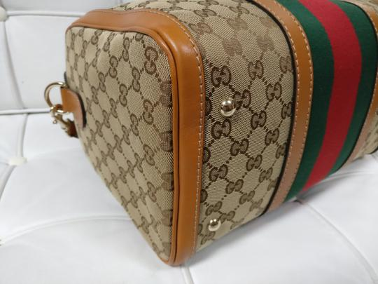 Gucci Gg Supreme Boston Web Satchel Cross Body Bag Image 6