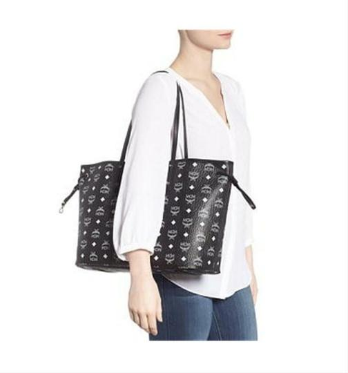 MCM Shopper Shopping Pouch Shoulder Tote in Black Image 2